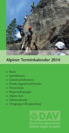 2014 - Deutscher Alpenverein Sektion Kempten