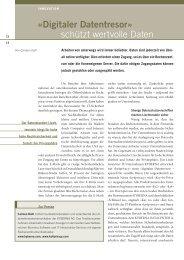 Digitaler Datentresor» schützt wertvolle Daten - kyberna AG