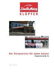 Die Partyservice-Broschüre als PDF herunterladen - Ländle Metzg ...