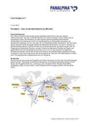 Eigenes Luftfrachtnetzwerk [pdf | 244 KB] - Panalpina