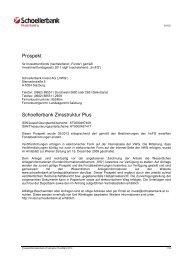 Verkaufsprospekt - Schoellerbank