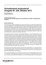 Schoellerbank Analysebrief Nr. 239 (pdf, 404 KByte)