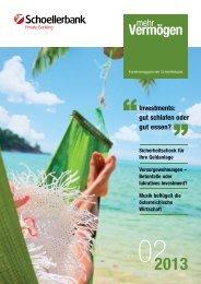 Ausgabe 2/2013 - Schoellerbank