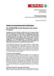 Der EUROSPAR ist das Herzstück des neuen Frunpark