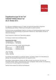 Tarifblatt Börserl 4 All - Spar