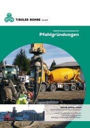 Broschüre Pfahlgründungen - Tiroler Röhren und Metallwerke