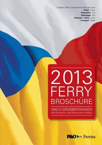 2013 ferry broschüre - P&O Ferries