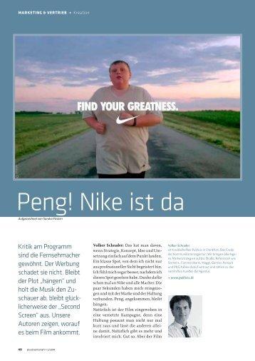 Peng! Nike ist da