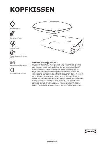Kopfkissen.pdf (1.3 MB) - Ikea
