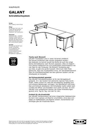 10 GALANT - Ikea