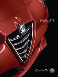 PREISLISTE - Alfa Romeo