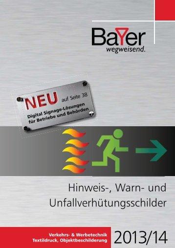 HWU-Katalog 2013/2014 Download - Bayer Schilder