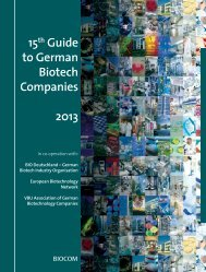 15th Guide to German Biotech Companies 2013 - Biocom AG