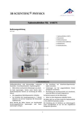 Fadenstrahlröhre TEL U18575 - 3B Scientific