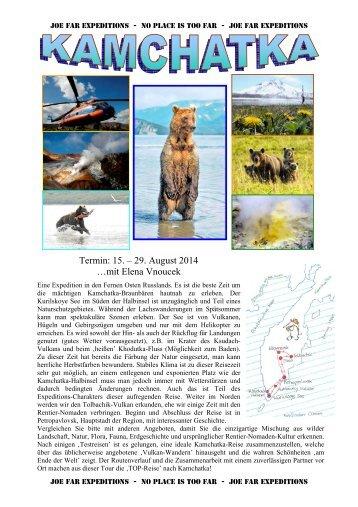 Detailprogramm für die Reise: Kamchatka: Natur ... - Joe Far Tours