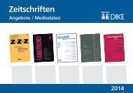 Mediadaten ZZZ 2014 - Dike Verlag AG