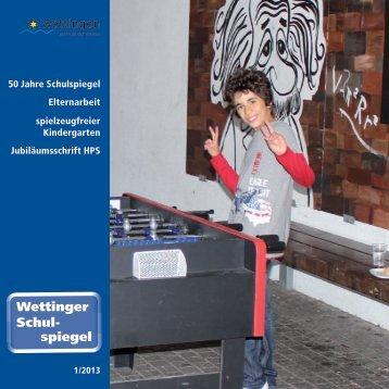 Wettinger Schul- spiegel - egloff-druck