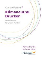 Klimaneutral Drucken - Frischmann Druck und Medien