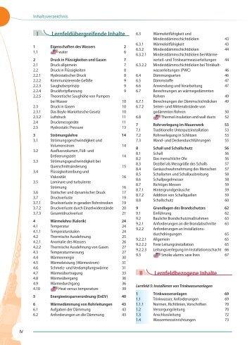 Inhaltsverzeichnis (pdf) - Verlag Handwerk und Technik