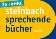 Hörbuch Vorschau Herbst 2013 - Steinbach Sprechende Bücher