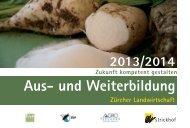 Kurse Aus-und Weiterbildung 2014 - Zürcher Bauernverband