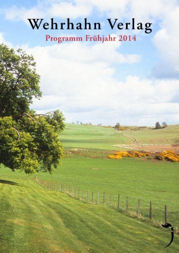 Frühjahrsvorschau 2014 - Wehrhahn Verlag
