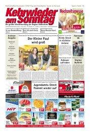 Ausgabe vom 05.01.2014 - Kehrwieder am Sonntag