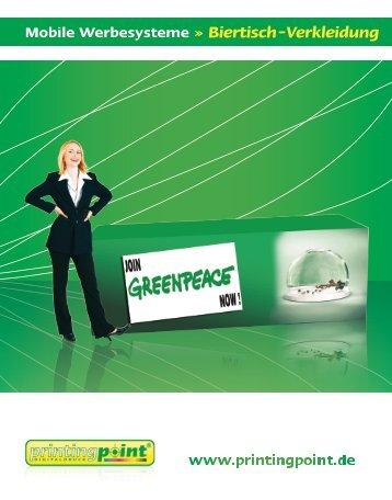 Printingpoint - Mobile Werbesysteme - Biertisch-Verkleidung