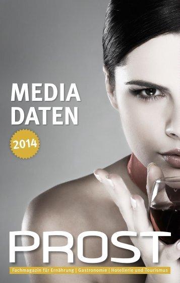 Mediadaten 2014 mit allen Anzeigentarifen ... - PROST Magazin