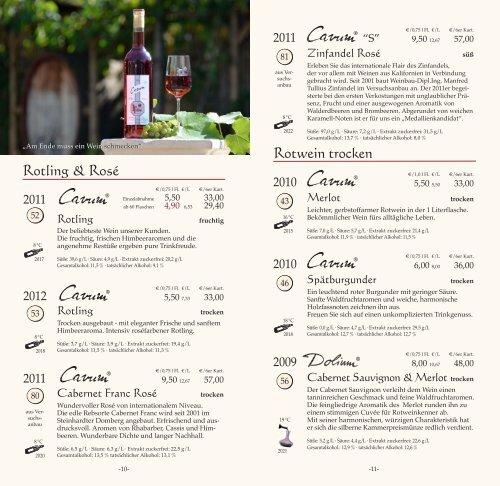 Weinkarte & Weinreise Weinkarte & Weinreise - Johann Tullius
