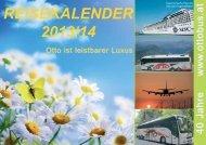 REISEKALENDER 2013/14 - Reisebüro Ottobus Ziegler Christian