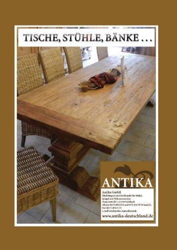 Katalog Tische und Stühle