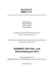 Barmer GEK Report 2013 - MTD-Verlag GmbH