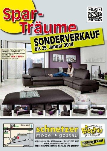 Aktuelle Werbung - Möbel Schnetzer