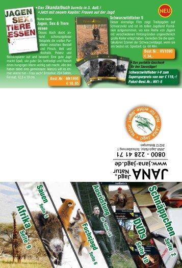 Afrika DVDs Schnäppchen - JANA Jagd + Natur