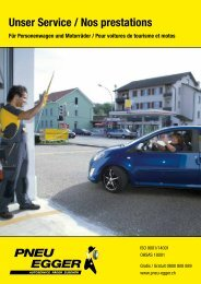 Nos prestations pour voitures - Pneu Egger