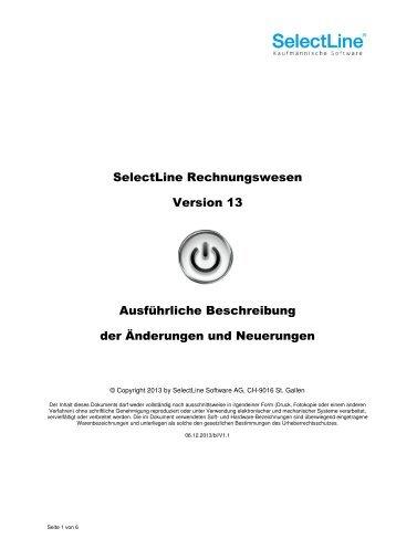 Update Rechnungswesen Version 13 - SelectLine
