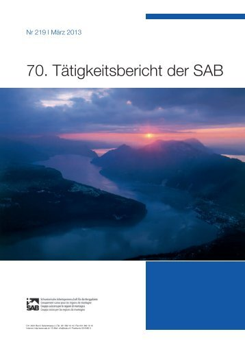 70. Tätigkeitsbericht der SAB