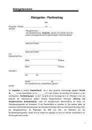 Kleingarten - Pachtvertrag