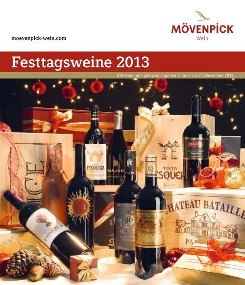Festtagsweine 2013 - Mövenpick Wein
