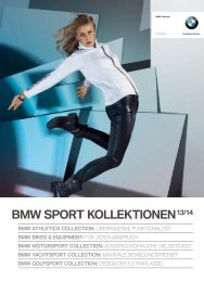BMW Sportkollektionen Katalog