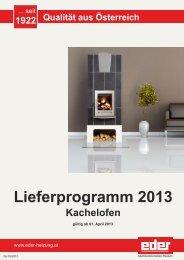 Preisliste 2013 Kachelofen - Eder
