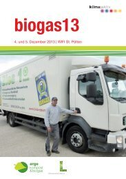 biogas13 Kongress-Programm - Ecoplus