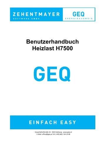 Benutzerhandbuch Heizlast H7500 - GEQ