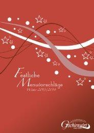 Menuvorschläge für Ihre Feier (PDF 1,6 MB)