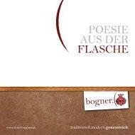 Weinkarte zum downloaden (pdf) - Hotel Landgasthof Bogner