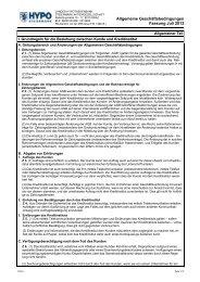 Allgemeine Geschäftsbedingungen 2013 (pdf) - HYPO Steiermark