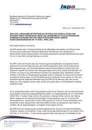 ISPA Stellungnahme zum Entwurf einer Verordnung über das ...