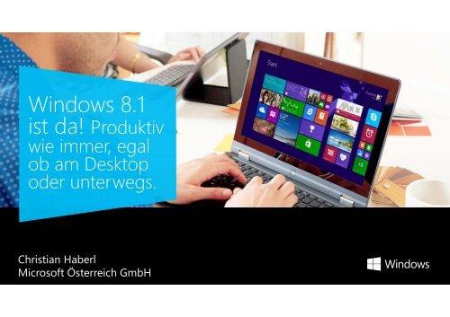 Windows 8.1 Presentation - Klockwork IT-services GmbH
