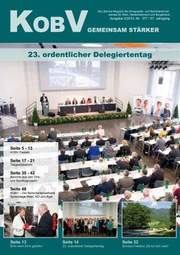 23. ordentlicher Delegiertentag - KOBV
